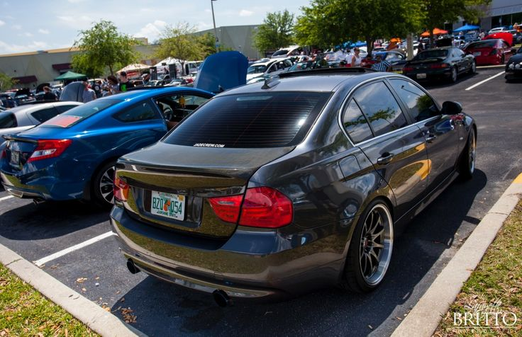 BMW N54 E90 with volk CE28 JDM DTM ray's Carbon Fiber CSL tein