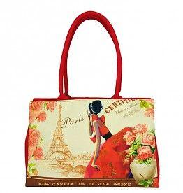 """Canvas handtas """"Paris fashion"""""""