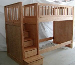 bunk bed w/ stairs - plans