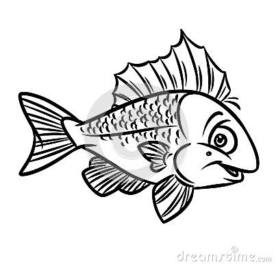 Fish Coloring Pages Image Animal Character