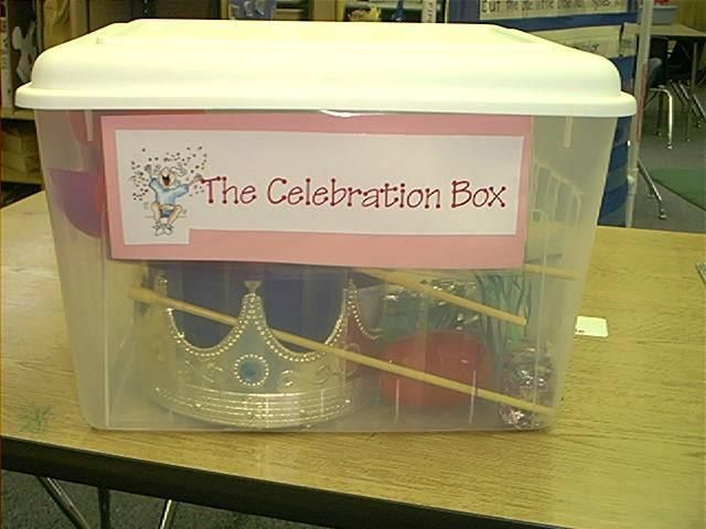 Celebration Box - Creating a School Family is one foundation structure for success in a Conscious Discipline classroom. As a family, we celebrate our successes and good times. This pin also offers other celebration activities and items to stir your imagination. Go out and celebrate! #iheartcd