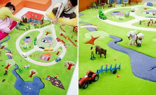 Sculptured Contemporary Rugs for Playful Kids Rooms Decor