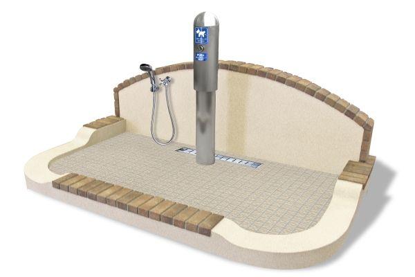ドッグトイレ 水洗おしっこポールタイプ 信建工業のドッグラボ 犬のスペース 犬のトイレ 犬と暮らす家
