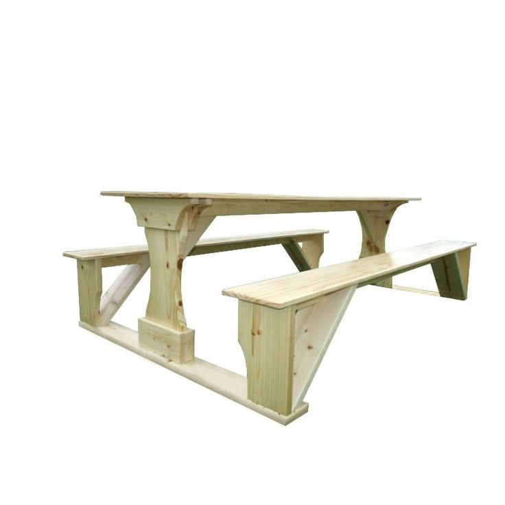 Commercial Grade Indoor Pine Pub Trestle Table (10), Tan, Patio Furniture