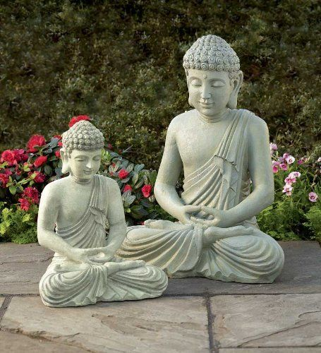 """All-Weather Large Garden Buddha Statue, 22-1/2""""H . $79.99. Meditating Buddha. Buddha Statue. Weather-resistant resin. Great for a tranquil garden space. One look at our harmonious Buddha and you'll be filled with Zen-like calm. Place him in a quiet garden or flower bed where he can meditate, undisturbed in the tranquil surroundings. Long-lasting, all-weather polyresin gives him the natural look of weathered stone. Buddha Statue. Weather-resistant resin. Meditating Buddha. Great ..."""