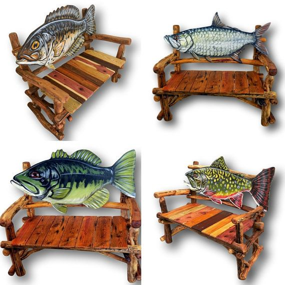 Made to Order Fish Bench Reclaimed Wood Bench Rustic by WoodzyShop