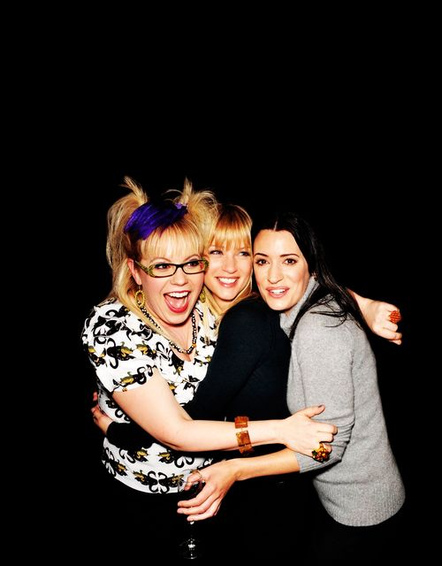 The ladies of Criminal Minds! Kirsten Vangsness as Penelope Garcia, Paget Brewster as Emily Prentiss & A.J. Cook as Jennifer Jareau.