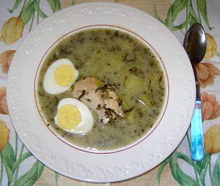 W Mojej Kuchni Lubię.. : na piersi kurczaka szczawiowa zupa...