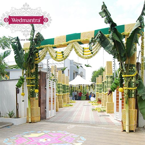 Simple and beautiful traditional decor for a pre-wedding ceremony. #wedmantra #weddingdecor #wedding #weddingplanner #weddingtheme #weddinglighting #weddingphotography #eventplanner #lightingdecor #flowerdecor #indianwedding #weddinginindia #traditionalwedding