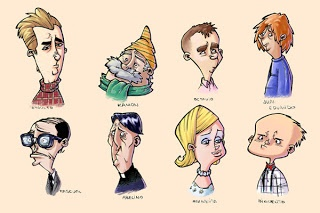 characters by Miguel Martín  #illustration #drawing #character