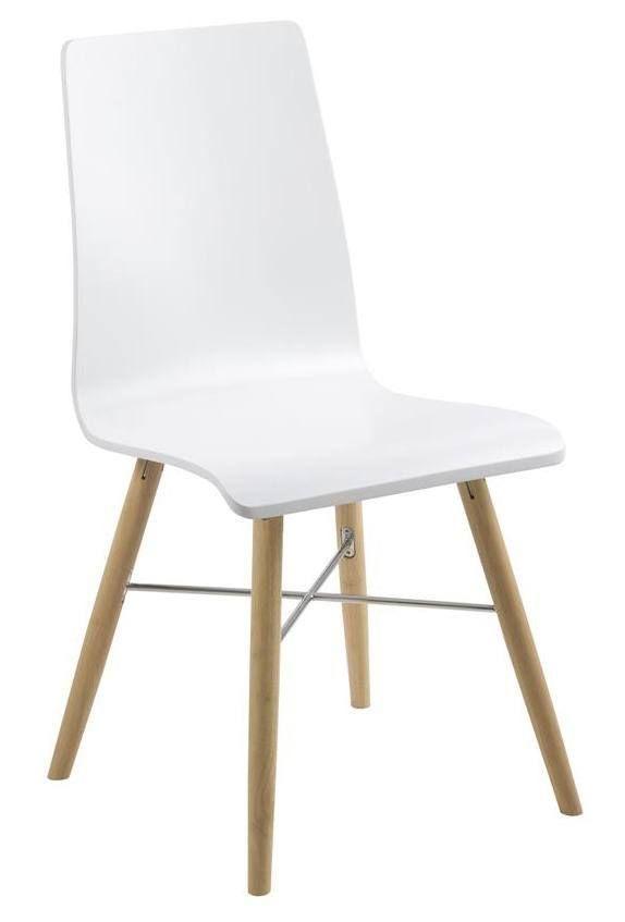 Lucas+Spisestuestol+-+Hvit+-+Hvit+spisebordsstol+i+et+enkelt+design,+som+tilfører+spisebordet+et+minimalistisk+look.+Stolen+er+utstyret+med+et+hvitt+sete+og+ben+i+lyst+tre.+En+perfekt+spisebordsstol+til+det+moderne+hjem.