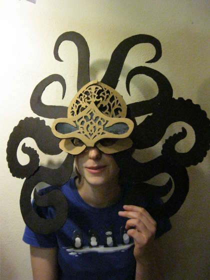 chrome hearts ring forever love lyrics Octopus Mask  halloween costume  steampunk IT