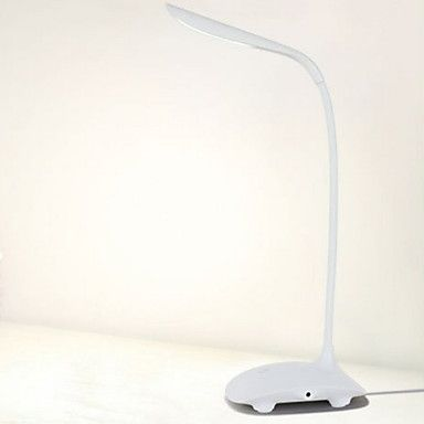 Modern Creative White USB Rechargeable Touch Control 600Lx LED Desk Lamp Table Lamp