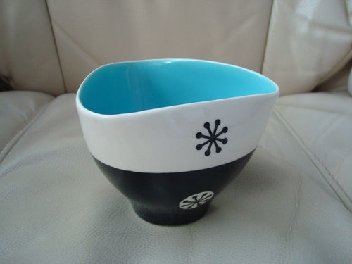Rare Hornsea Clappison Tricorn sugar bowl 1958