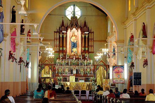 1678 BC old The Milagres Cathedral of  Kallianpur, Karnataka, and uninviting  political situation, S.India  ~ Navrang India