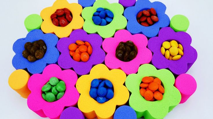 DIY Kinetic Sand Candy M&M's, Spidermen, Elsa TMNT Marvel Superhero Lear...