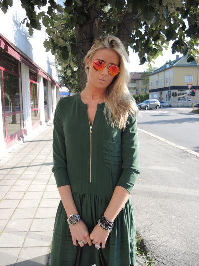 Christina wearing Rützou AW13 dress.