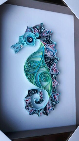 Finished seahorse. 3rd project so far.