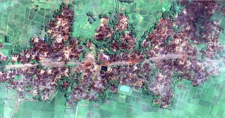 This new satellite imagery shows the total destruction of a Muslim village, and prompts serious concerns that the level of devastation in northern Rakhine State may be far worse than originally thought.