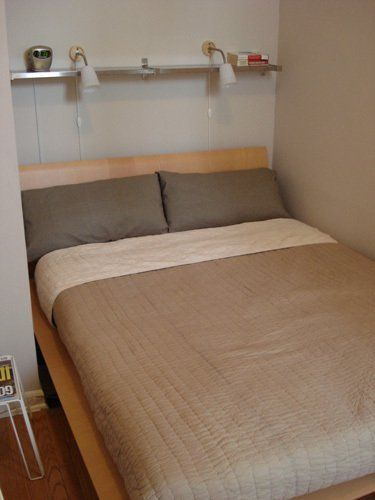 Small Space Solution: No Space Night Stands