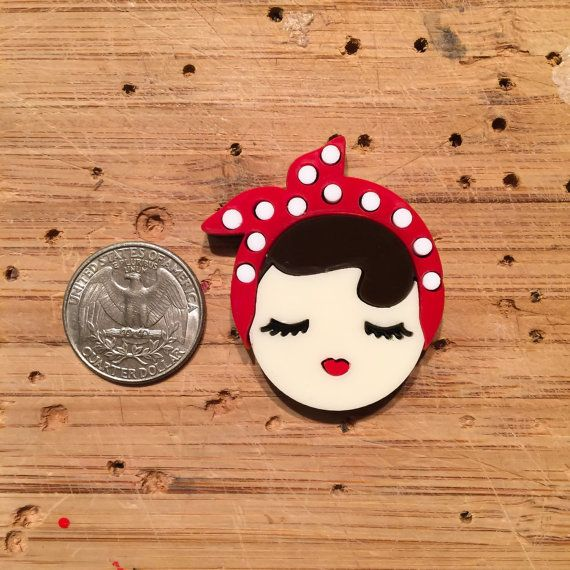 Mini Valley of the Dolls: ROSIE layered acrylic by Baccurelli