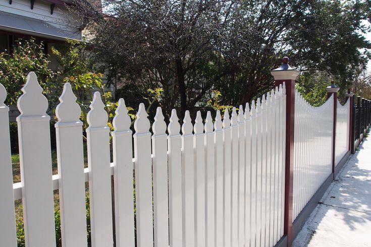 Aluminium White Picket Fence