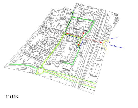 Das Band meiner Stadt (The Band of My City) Winning Proposal,traffic diagram