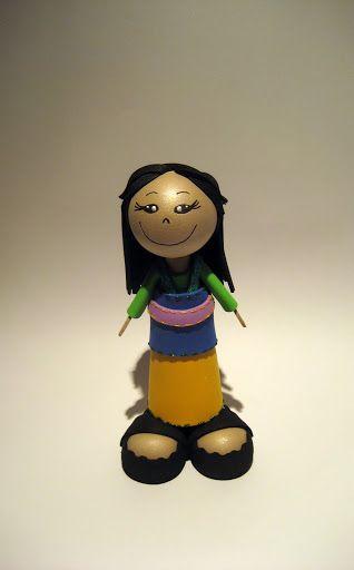 Mini Fofuchas em EVA-  Princesa Mulan  - Filomena Magalhães - Álbuns Web Picasa