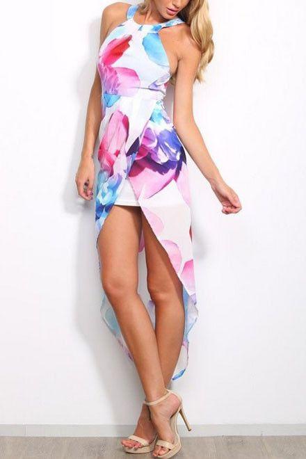 2015 Chiffon Dreaming Love Floral Print Dress(C1368A)