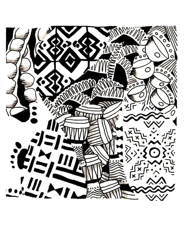 Coloring Adult Africa Symbols Jpg In