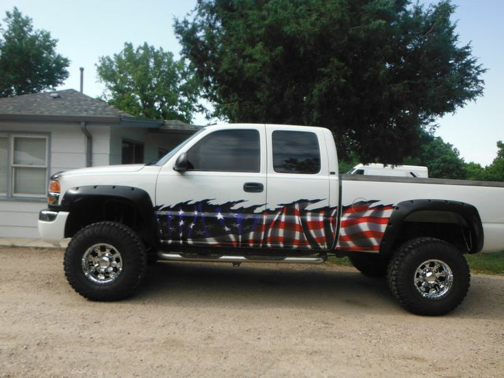Car Truck Decals American Flag Vinyl Graphic Wrap Ft And Up - Badass decals for trucks