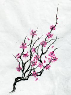 I want a cherry tree blossoming starting on my foot coming up my ankle/leg