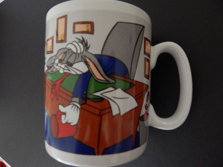 Bugs Bunny Warner Bros Mug Huge Cup Is The Coffee Ready Yet? Office Desk Tie Tea