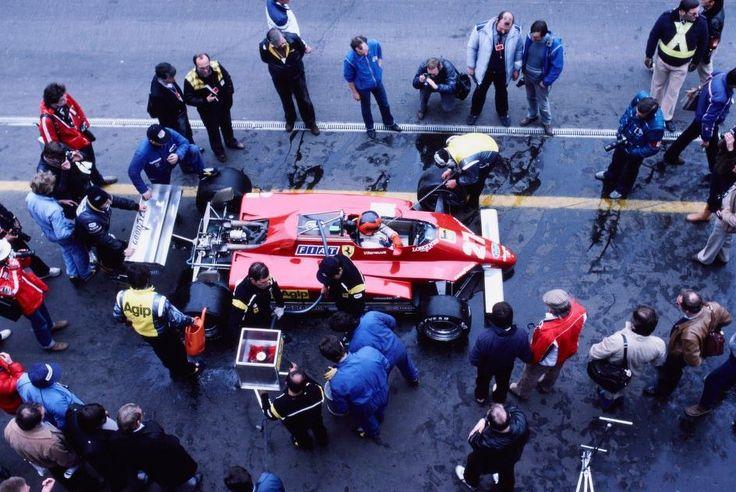 Ferrari Friday … center of attentionGilles Villeneuve, Ferrari 126C2, 1982 Belgian Grand Prix, Zolder
