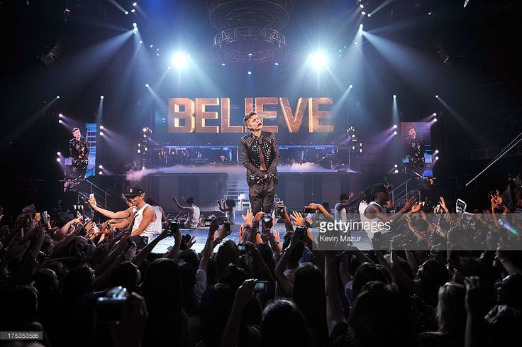 Justin Bieber performs during his 'Believe' Tour at Barclays Center of Brooklyn on August 2, 2013 in New York, New York.