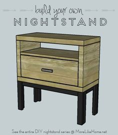 build your own nightstand with 18 free plans this plan is for a chunky modern style with a. Black Bedroom Furniture Sets. Home Design Ideas