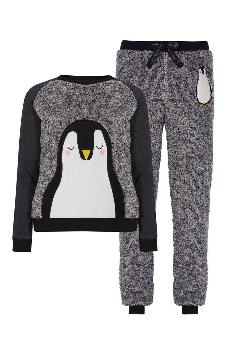 Primark - Pijama polar con pingüino