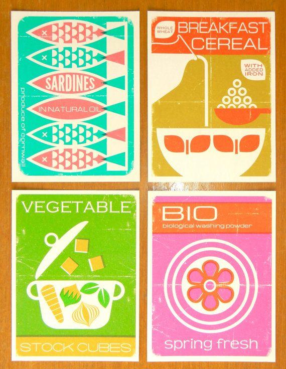 Vintage Style Packaging Print 15x20cm Breakfast by aliceapple