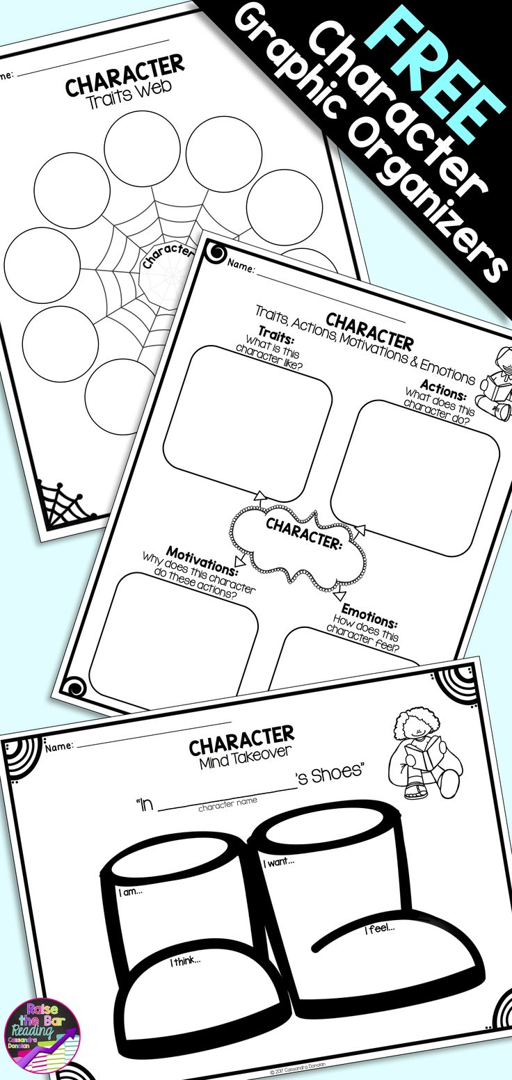 best ideas about character traits graphic organizer on 3 character graphic organizers for fiction reading comprehension student supports for analyzing character traits