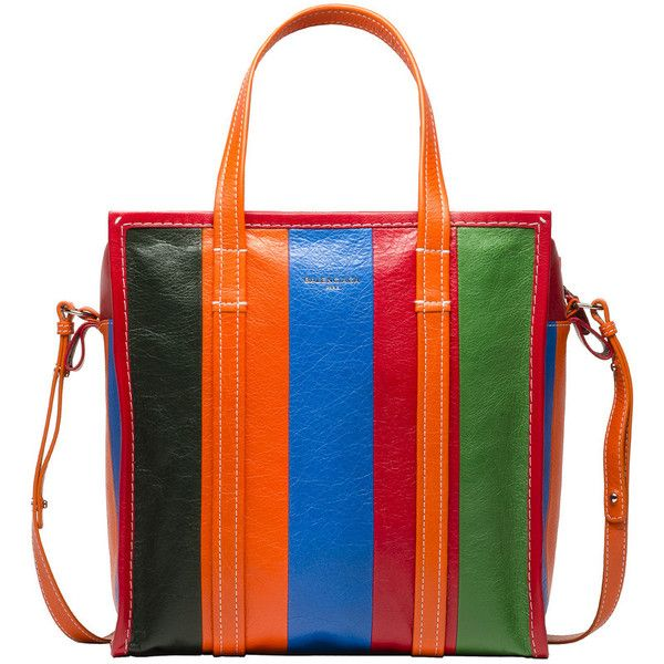 Balenciaga Bazar Shopper S (£1,155) ❤ liked on Polyvore featuring bags, handbags, tote bags, multicolor, multicolor handbags, shopping tote bags, balenciaga tote, colorful purses and colorful tote bags
