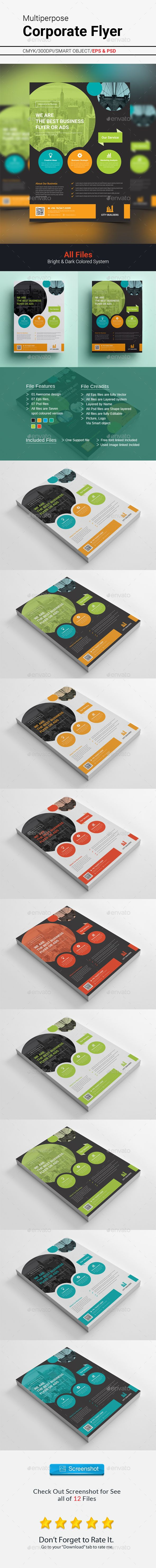 Corporate Flyer Template PSD #design Download: http://graphicriver.net/item/corporate-flyer/14398981?ref=ksioks