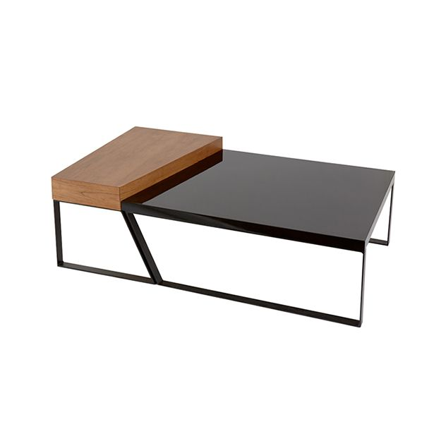 Table basse galet laque jaune for Table basse scandinave galet
