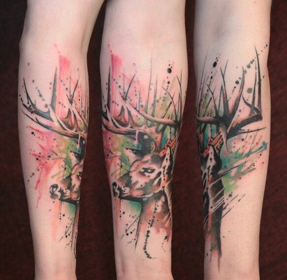 Paint Splatter Tattoo style. Gene Coffey | Tattoo Culture, Brooklyn