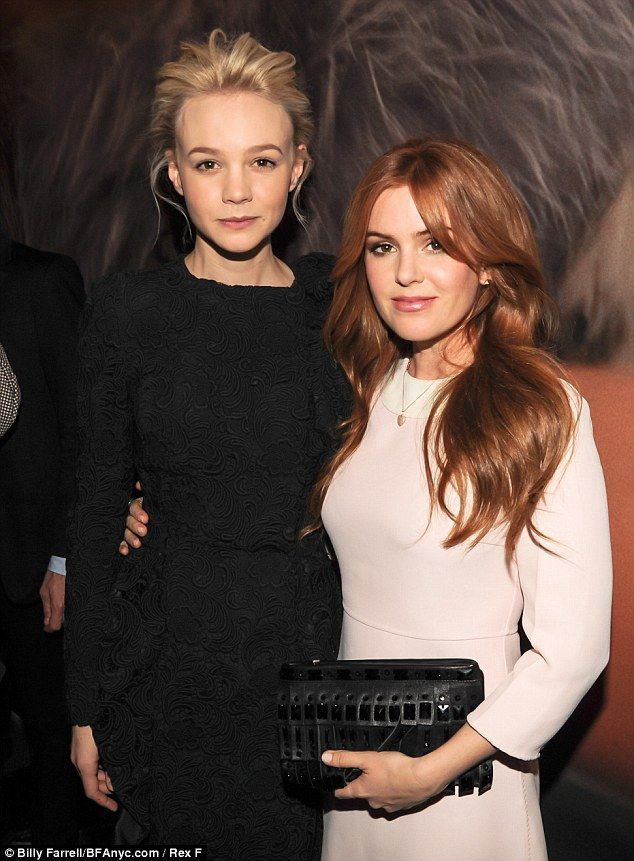 The Great Gatsby (2013) | Carey Mulligan (Daisy Buchanan) and Isla Fisher (Myrtle Wilson) chose contrasting monochrome looks for their appearance at the Catherine Martin and Miuccia Prada Dress Gatsby Opening in New York on Monday