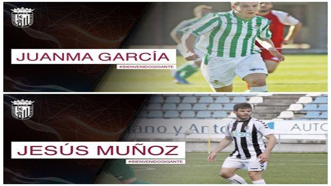 El Club Deportivo Badajoz informa que ha llegado a un acuerdo con Jesús Muñoz Y Juan Manuel García para la temporada 2017/2018.