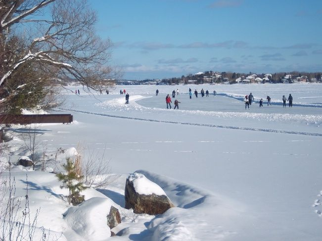 Ramsey Lake Skate Path, Sudbury, Ontario