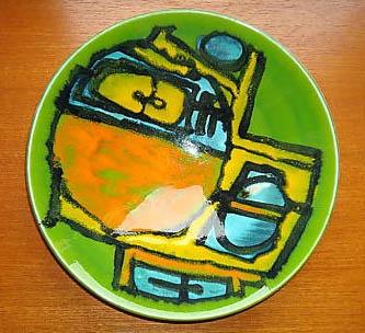 Plate, Poole Pottery