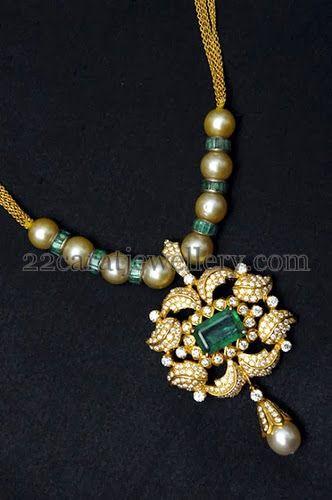 Vasundhara's South Pearls Neck Piece | Jewellery Designs