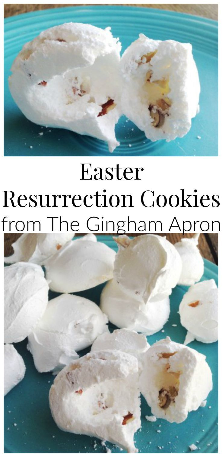 Easter Resurrection Cookies- Teach your kids all about Jesus' death and resurrection with this fun activity! The final step is opening up the cookie (tomb) to see that it is empty! Fun and memorable!