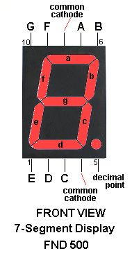 7-Segment displays are paralleled